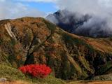 秋の奥大日岳と剣岳