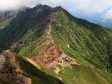 八ヶ岳・山頂から望む赤岳展望荘