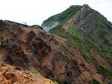 地蔵尾根から望む赤岳