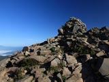 磐梯山山頂のケルン