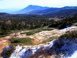 冠雪の八幡平と岩手山