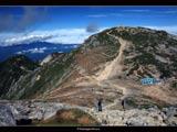 中岳から望む木曽駒ケ岳