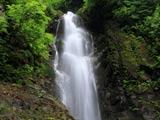 夜明島渓谷 主役の下の前座滝