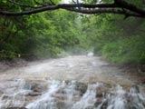 カムイワッカ湯の滝の流れ