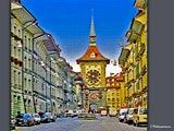 アートなベルン旧市街の時計塔