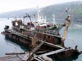 2005年の色丹島・穴潤の桟橋