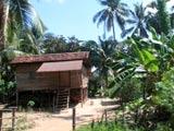 高床式のカンボジア民家
