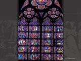 パリ・ノートルダム寺院のステンドグラスD