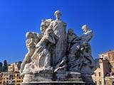 テヴェレ川の橋上彫刻